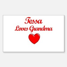 Tessa Loves Grandma Rectangle Decal
