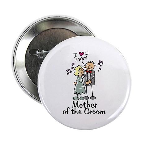 Cartoon Groom's Mother Button
