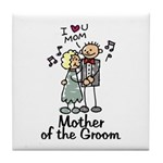 Cartoon Groom's Mother Tile Coaster