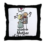 Cartoon Groom's Mother Throw Pillow