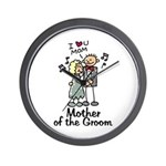 Cartoon Groom's Mother Wall Clock