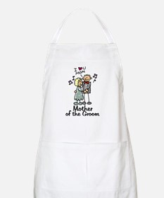 Cartoon Groom's Mother BBQ Apron