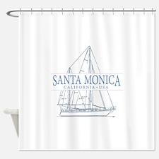 Santa Monica CA - Shower Curtain