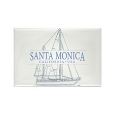 Santa Monica CA - Rectangle Magnet (10 pack)