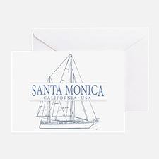 Santa Monica CA - Greeting Card