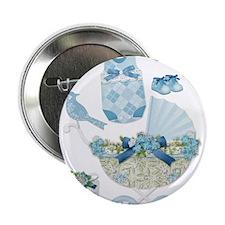"Blue Vintage Baby Boy 2.25"" Button (100 pack)"