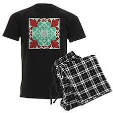 Red Mint Green Ornamental Decor Pajamas
