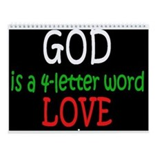 God Is A 4 Letter Word Wall Calendar