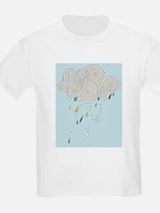 Blue Sky Rain Cloud Illustration T-Shirt