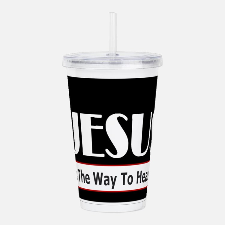 Jesus is the way Acrylic Double-wall Tumbler