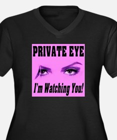 Private Eye I'm Watching You Women's Plus Size V-N