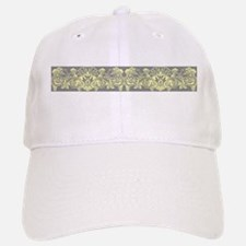 Yellow Gray Ornamental Border Baseball Baseball Baseball Cap
