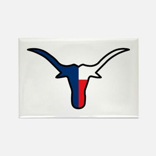 TEXAS FLAG LONGHORN Magnets
