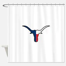 TEXAS FLAG LONGHORN Shower Curtain