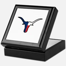 TEXAS FLAG LONGHORN Keepsake Box