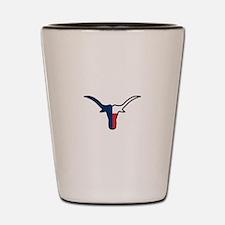 TEXAS FLAG LONGHORN Shot Glass