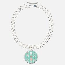 Pink Mint Arrows Pattern Bracelet