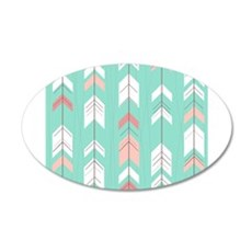Pink Mint Arrows Pattern Wall Decal