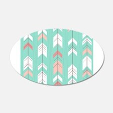Pink Mint Arrows Pattern Wall Decal