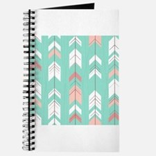 Pink Mint Arrows Pattern Journal