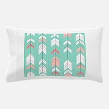 Pink Mint Arrows Pattern Pillow Case