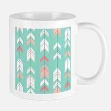 Pink Mint Arrows Pattern Mugs