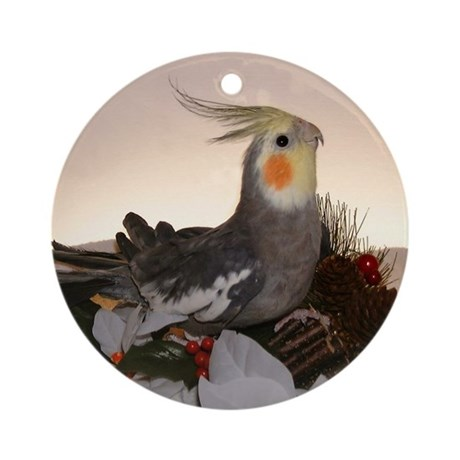 Normal Grey Cockatiel Ornament