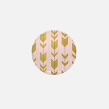 Pink Gold Arrows Pattern Mini Button (10 pack)