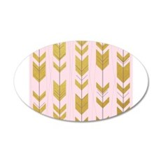 Pink Gold Arrows Pattern Wall Decal