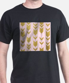 Pink Gold Arrows Pattern T-Shirt