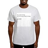 Statistics Mens Light T-shirts