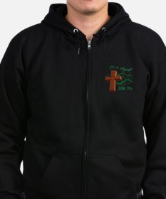 HE IS ALWAYS WITH ME Zip Hoodie