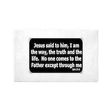 Jesus said to him Area Rug