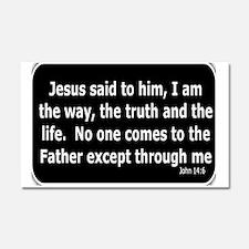 Jesus said to him Car Magnet 20 x 12