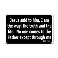 Jesus said to him Rectangle Car Magnet