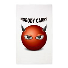 NOBODY CARES Area Rug