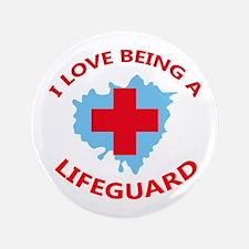 "LOVE BEING A LIFEGUARD 3.5"" Button"