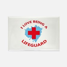 LOVE BEING A LIFEGUARD Magnets
