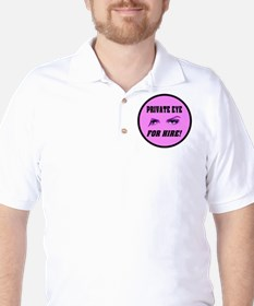 Private Eye Fore Hire White E T-Shirt