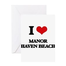 I Love Manor Haven Beach Greeting Cards