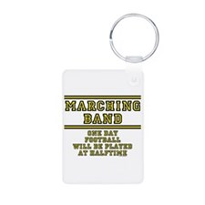 Football At Halftime Aluminum Photo Keychains