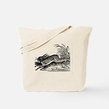 Antique Woodcut Engraving of Rabbit or Ha Tote Bag