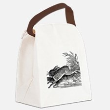 Antique Woodcut Engraving of Rabb Canvas Lunch Bag