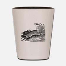 Antique Woodcut Engraving of Rabbit or Shot Glass