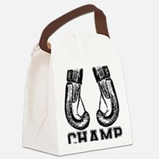 Cute Boxing Canvas Lunch Bag