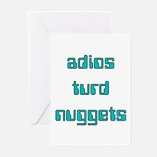 Adios Turd Nuggets Greeting Cards (Pk of 10)