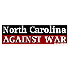 North Carolina Anti-War Bumper Bumper Sticker