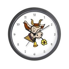 Cow Wall Clock: Contented Cow