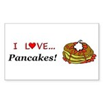 I Love Pancakes Sticker (Rectangle 10 pk)