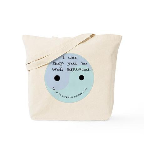 """Well Adjusted-Chiro"" Tote Bag"